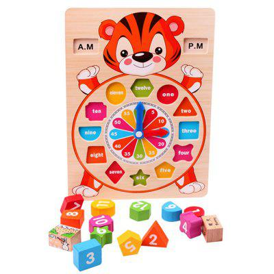 Time Early Education Toys Tiger Children Multi-function Intelligence Digital Building Blocks