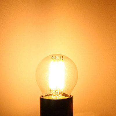E27 2W 180lm 3000K Warm White Transparent YK0803 AC 220V LED Filament Bulb  4pcs
