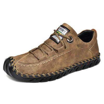 Man Large Size Manual Casual Leather Shoe Gommini