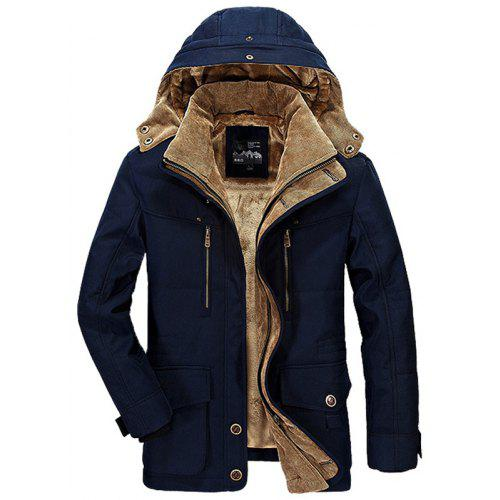 1afc907b2d Men Winter Business Casual Multi-pocket Hooded Coat