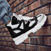 Rubber High-top Outdoor Sports Shoes - BLACK