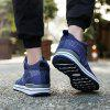 Flying Woven Outdoor Sports Running Shoes - DEEP BLUE