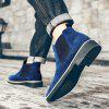 Men Leisure Stylish Slip-on Casual Boots - BLUE