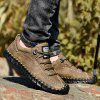 Man Large Size Manual Casual Leather Shoe Gommini - BROWN
