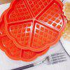 5 Even Heart Shaped Waffle Cake Baking Mold - RED