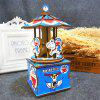 3D Wooden Three-dimensional Jigsaw Puzzle Hand-made Creative Rotating Cartoon Small Cat Chain Music Box - BLUEBERRY BLUE