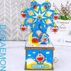 3D Wooden Three-dimensional Jigsaw Puzzle Hand-made DIY Creative Ferris Wheel Cartoon Small Cat Chain Music Box - OCEAN BLUE