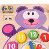Intelligence Learning Digital Time Early Education Toys Bear Child Multi-function Clock Building Blocks - MULTI-A