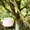 European Balcony Gardening Orchid Resin Flower Pot ( with Hanging Chain ) - WHITE