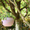 Pink European-style Balcony Gardening Plant Orchid Resin Flower Pot - PINK