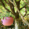 Red European-style Balcony Gardening Plant Orchid Resin Flower Pot - CHESTNUT RED