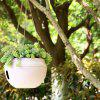 White European-style Balcony Gardening Plant Orchid Resin Flower Pot - WHITE