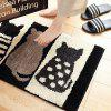 Household Bathroom Mat Bedroom Kitchen Cushion - BLACK