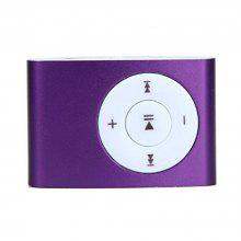 USB Mini MP3 Player Support 32GB Micro SD TF Card with Headphone (Purple)