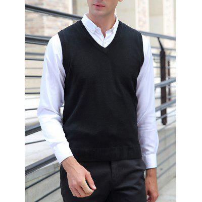 Men's Vest Casual Sleeveless Knit Pure Wool