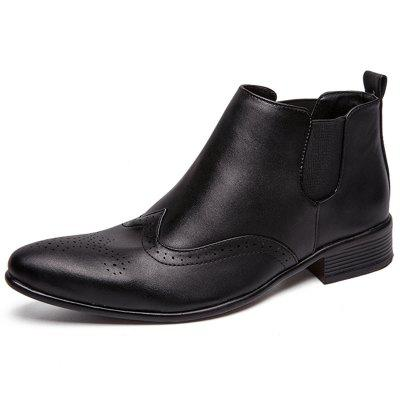 Men Leisure All-match Stylish Solid Pointed Shoes