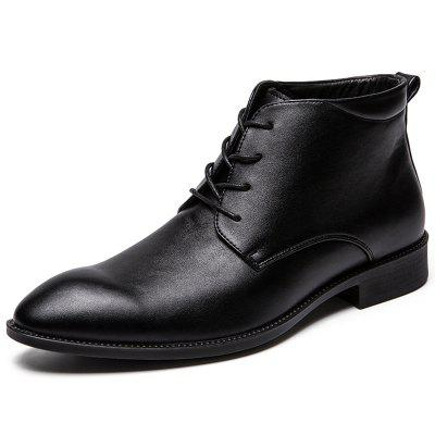 Men Leisure All-match Stylish Solid Leather Shoes