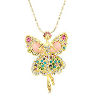MY-0013 Angel Opal Sweater Chain Long Necklace