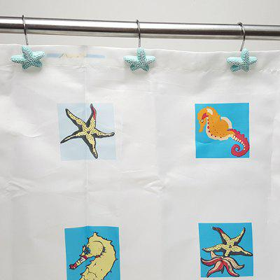 Ocean Series Shower Curtain Storage Hook 12pcs