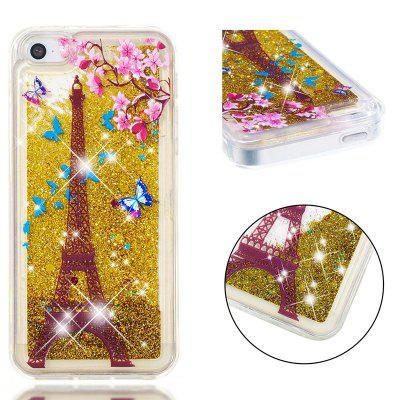 Full Soft Anti-fall Sandpaper Transparent Mobile Phone Case for iPhone 5S