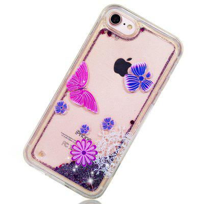 Full Soft Anti-fall Sand Transparent Mobile Phone Case for iPhone 6