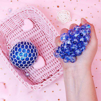Creative Vent Decompression Luminescent Grape Ball Squishy Toy Crystal Beads