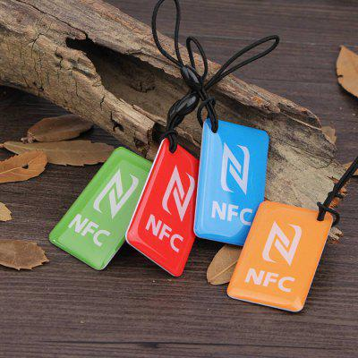 NFC Crystal Epoxy Smart Card Electronic Label 4pcs