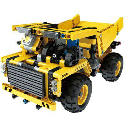 Mould King 13016 Children Electric Remote Control Car Assembled DIY  Intelligence Model Toy Mining Truck Blocks