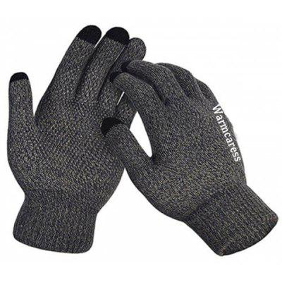 Touch Screen Anti-skid Plush Lining Thickening Rubber Riding Gloves