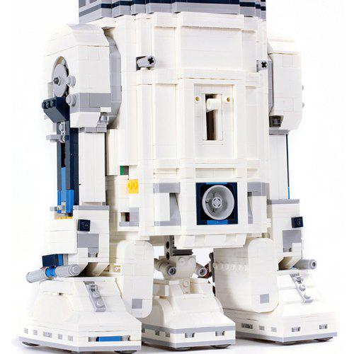 05043 Planet Series R2 - D2 Robot Assembling and Inserting Puzzle Building Blocks Children Toy