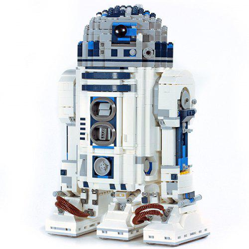 Gearbest 05043 Planet Series R2 - D2 Robot Assembling and Inserting Puzzle Building Blocks Children Toy - WHITE