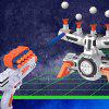 Children Space War Suspension Target Soft Bullet Parent-child Interaction Gun Shooting Game Toy - WHITE