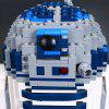 05043 Planet Series R2 - D2 Robot Assembling and Inserting Puzzle Building Blocks Children Toy - WHITE