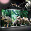 100 inch Dangling Projection Screen 16:9 Home 3D HD Entertainment - WHITE