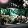 60 inch Dangling Projection Screen 16:9 3D Home HD Entertainment - WHITE