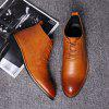 Carved Pointed Men Leather Shoes Male Boots - CHESTNUT RED