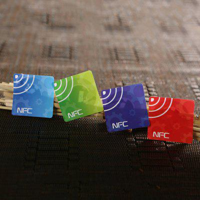 NFC Tag Card Full Compatible Chip Large Capacity Sticker Four Color