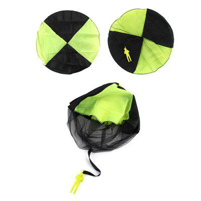 Children's Aerial Hand Throw Parachute Skydiving Game Soldiers Parachute Outdoor Toy Bucket
