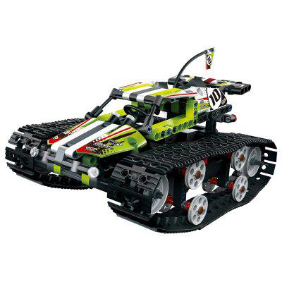 13023 DIY Assembled Electric Tracked High Speed Car Toy