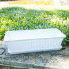 Trumpet Candy Color Series Balcony Planting Basin Colorful Flower Pot with Tray - WHITE