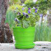 Green Large Pastoral Style Candy Color Series Flower Pots with Basin - GREEN SNAKE