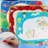 Children's Magical Monochrome Water Canvas Writing Blanket Graffiti Baby Educational Toys - DEEP SKY BLUE