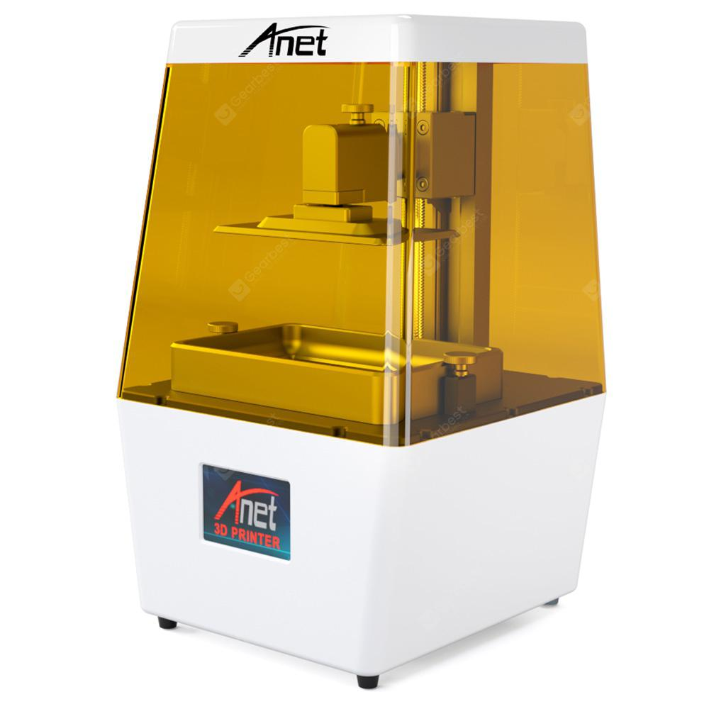 Anet N4 New UV Photocuring LCD 3D Printer with 3.5 Inch Smart Color Touch Screen Off-line Print - WHITE EU PLUG