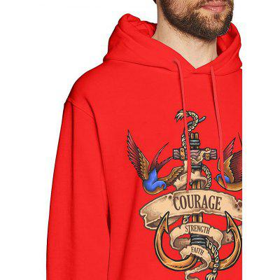 19029 Men's Hoodie Autumn Winter Hooded Cotton