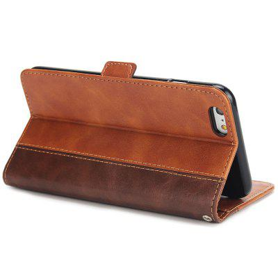Vintage Stitching Leather Mobile Phone Case Wallet Card Inserting Fall Protection Cover for iPhone 6