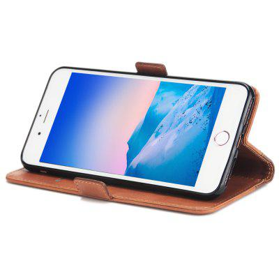Funda de cuero con billetera para iPhone 8 Plus