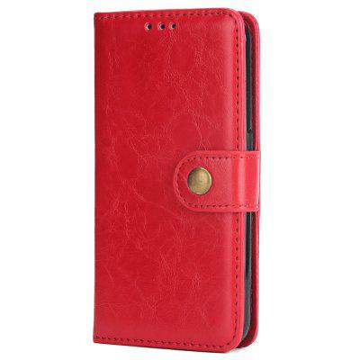 Crazy  Horse Leather Mobile Phone Case Wall Card for Samsung S6