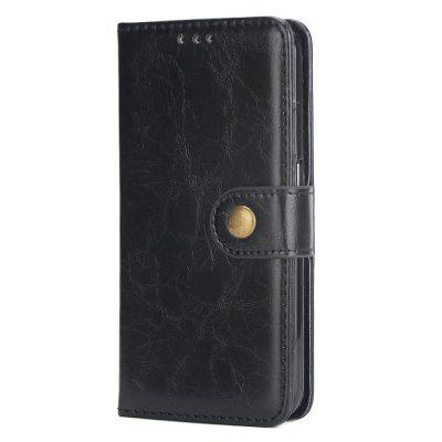 Crazy Horse  Mobile Phone Case Leather Wall Card for Samsung S6