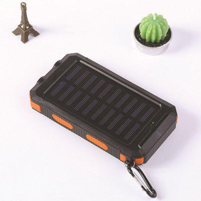Waterproof Compass Solar Mobile Power Bank 10000mAh