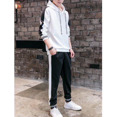 Men Leisure Comfortable Sports Two-piece Hoodie Suit